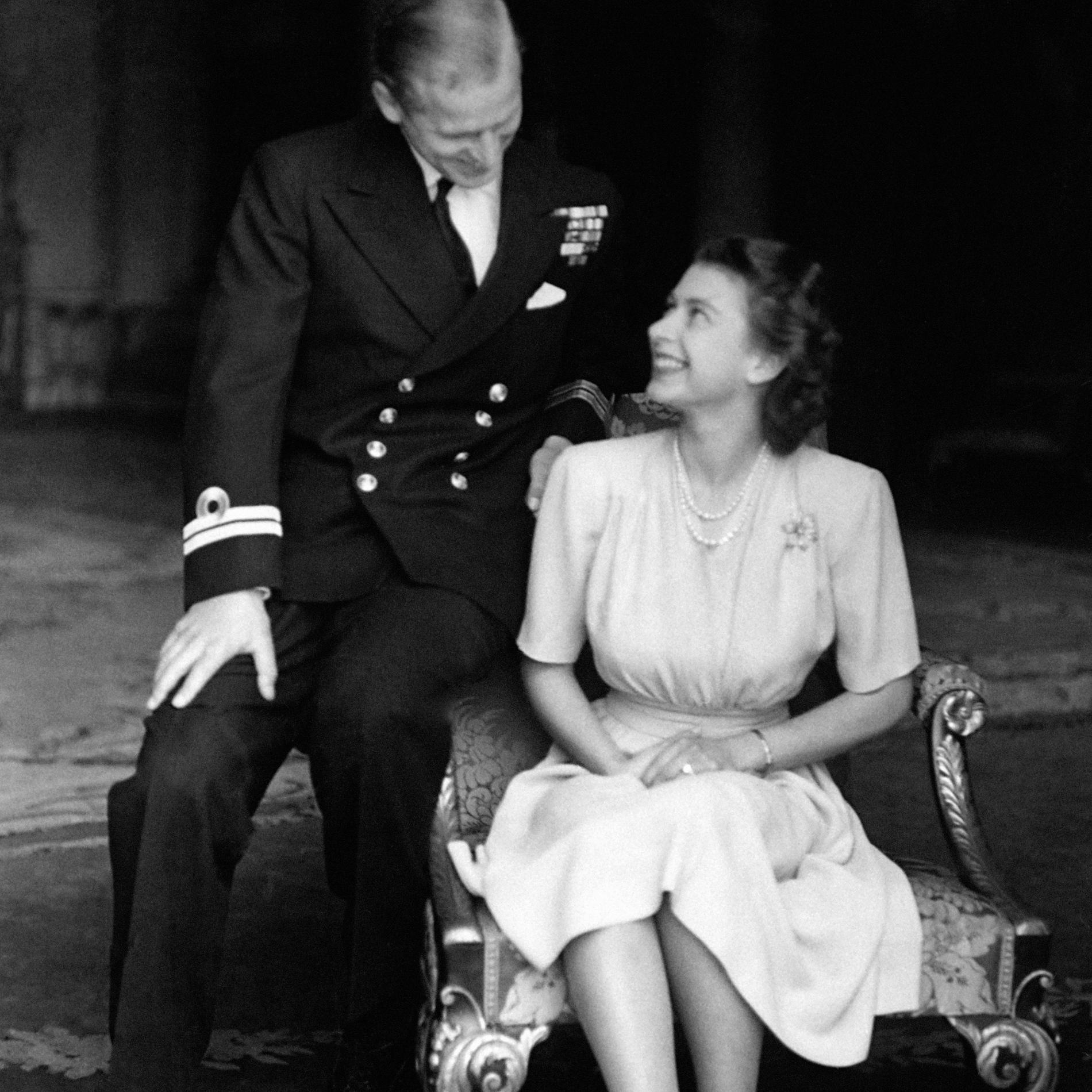 Philip Mountbatten a demandé la main de la princesse Elizabeth