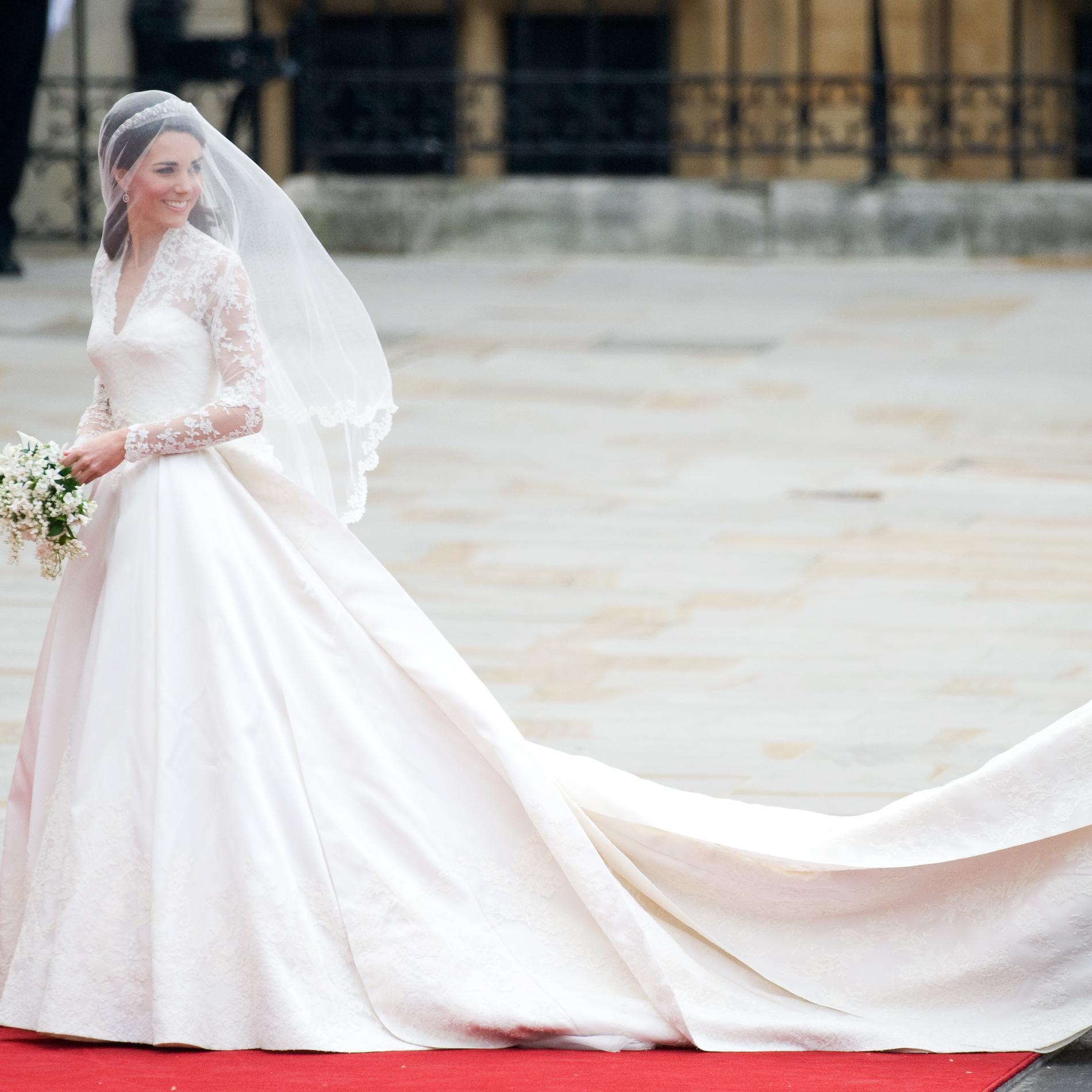 La traîne de Kate Middleton