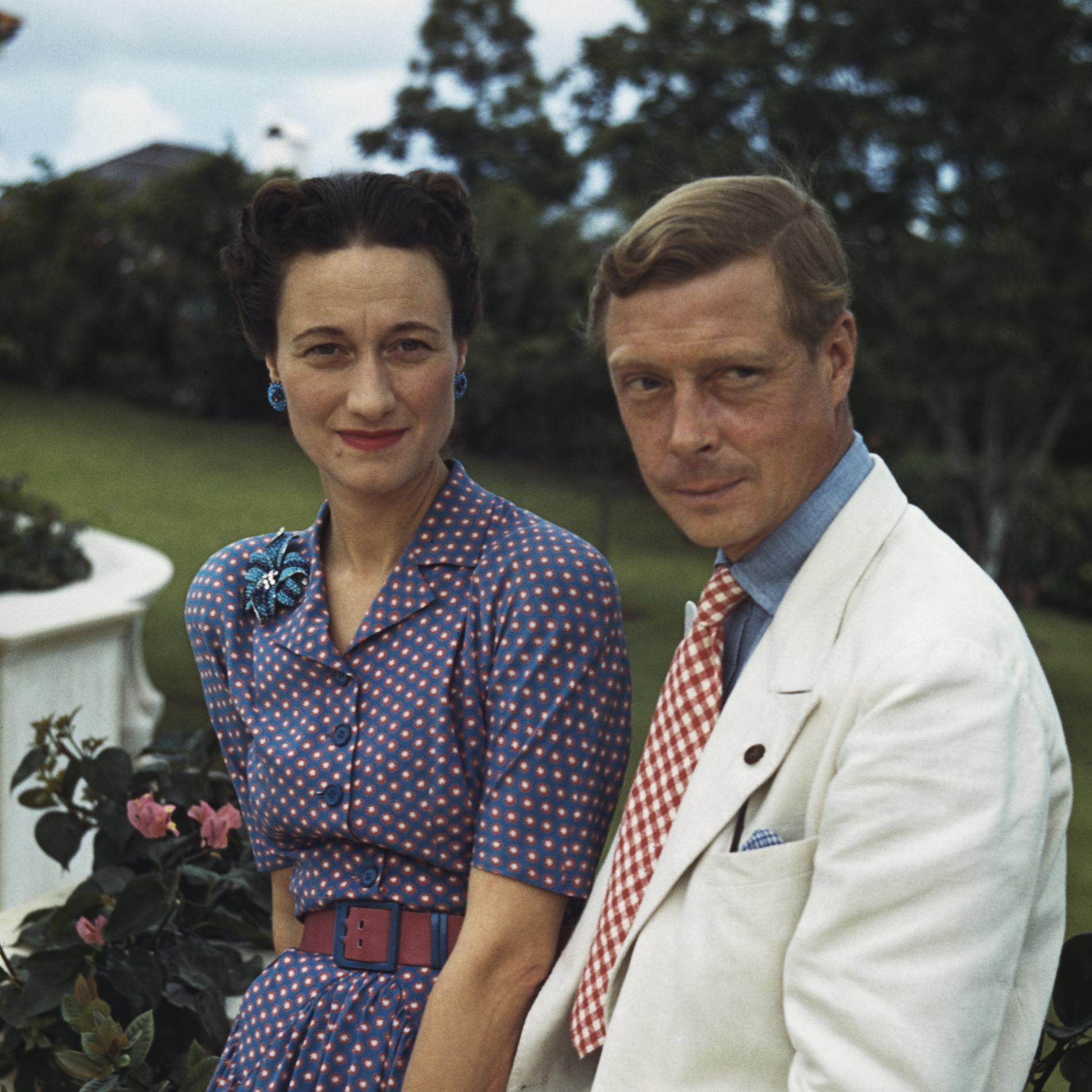 Wallis Simpson et le prince Édouard en 1942