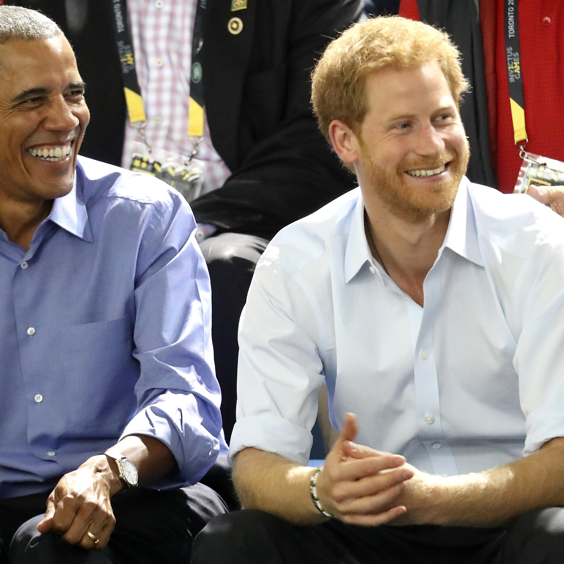 Le prince Harry et Barack Obama