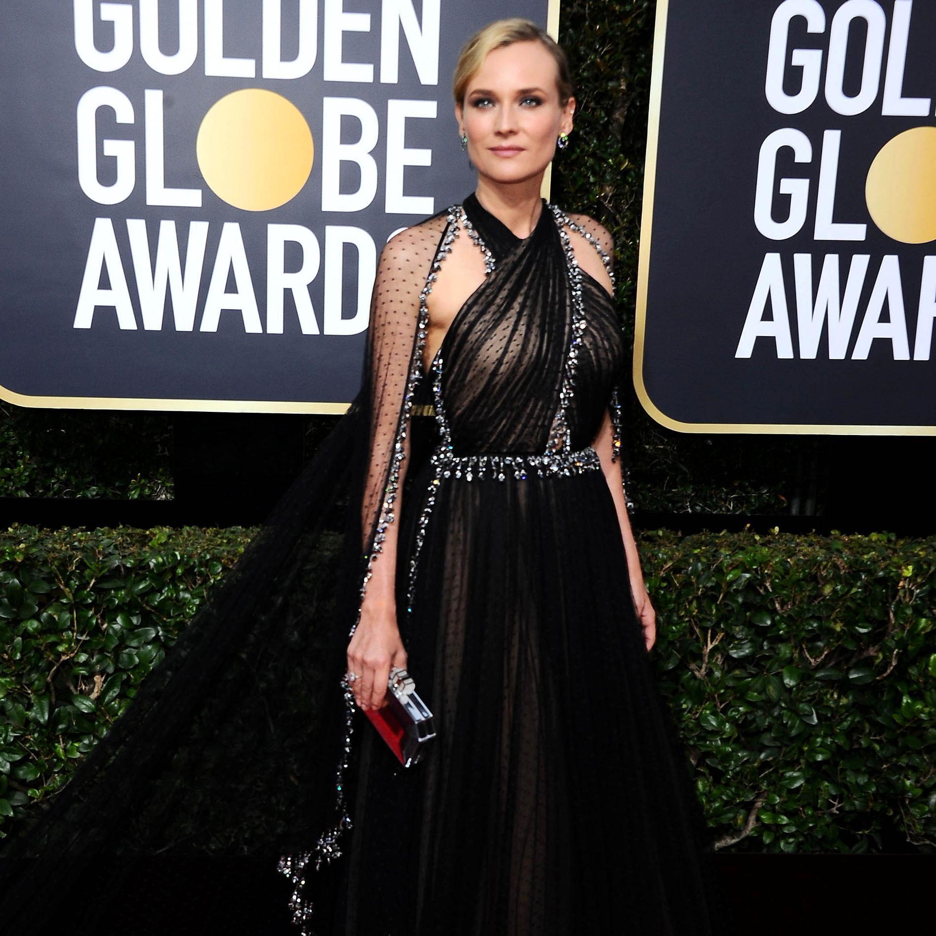 Toutes en noir aux Golden Globes 2018 - Diane Kruger