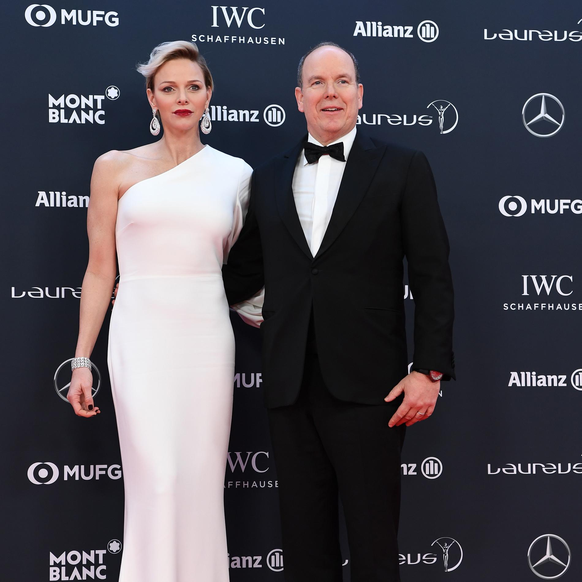 Charlene et Albert de Monaco aux Laureus Wolrd Sports Awards