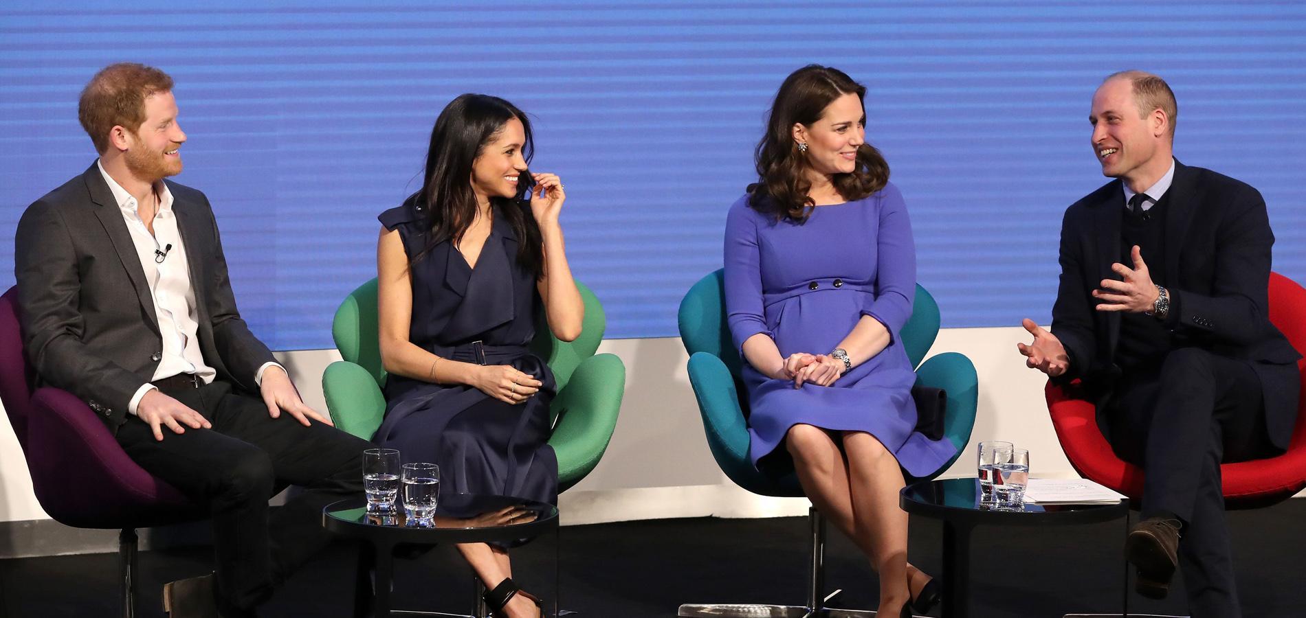 """William, Kate, Harry et Meghan Markle : les """"Fab Four"""" réunis pour la bonne cause"""