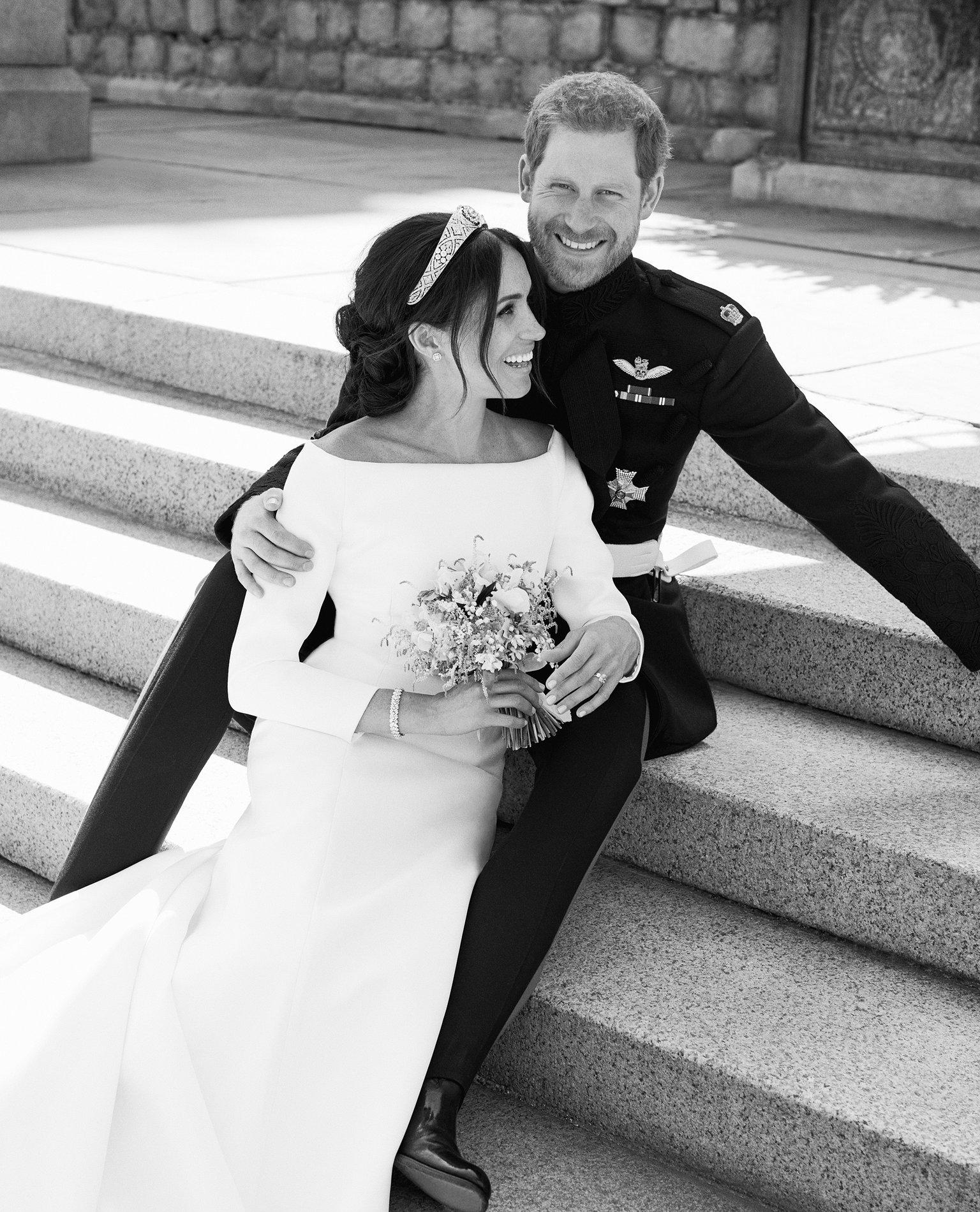 Photo officielle de Harry et Meghan à leur mariage
