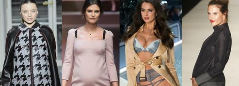 Irina Shayk, Bianca Balti, Miranda Kerr... Quand les top models arpentent les podiums enceintes