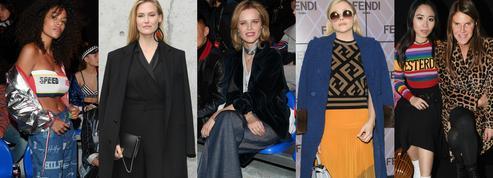 Eva Herzigova, Chloe Grace Moretz, Lewis Hamilton... Les stars aux premiers rangs des défilés milanais