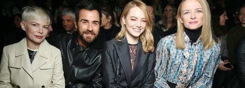 Michelle Williams, Justin Theroux, Emma Stone... Les stars aux premiers rangs des défilés parisiens