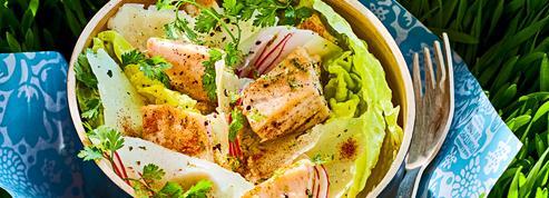 Salade façon César à l'espadon