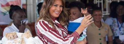 Sans Donald en Afrique, a-t-on déjà vu Melania Trump aussi joyeuse ?