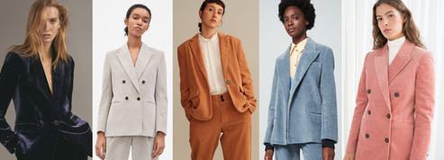 Le tailleur-pantalon en velours nous en fait voir de toutes les couleurs cet hiver