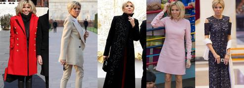 À la plage, à l'Élysée ou au Taj Mahal... Les apparitions les plus marquantes de Brigitte Macron en 2018