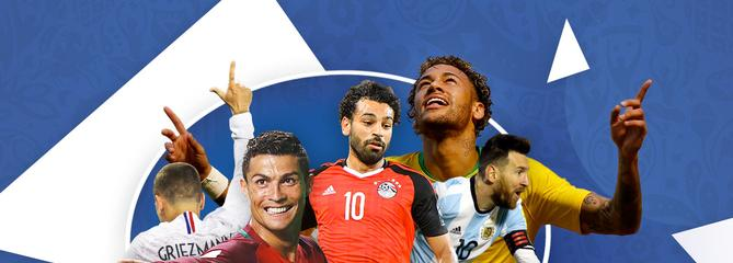 Dribbles, passes, buts… le match des stars de la Coupe du monde 2018