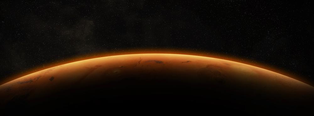 Vue de la planète Mars