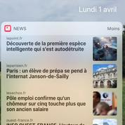 Le poisson d'avril du Point en tête d'Apple News