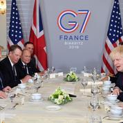 G7 : première rencontre Trump - Johnson