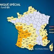 Tempête Amélie, vents violents et pluies : une dizaine de départements en alerte orange