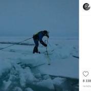 Arctique : Mike Horn en difficulté à cause du réchauffement climatique