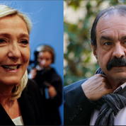 Pour Marine Le Pen, «on a toutes les raisons de détester» la CGT et Philippe Martinez