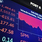 Coronavirus: séance noire à Wall Street, le Dow Jones prend l'eau