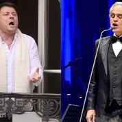 Stéphane Sénéchal, Andrea Bocelli... Les ténors donnent de la voix par la fenêtre