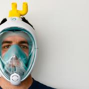 Coronavirus: en Italie, des masques de plongée transformés en respirateurs