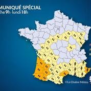 Pluies, inondations et orages : 8 départements en alerte orange