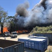 Donville-les-Bains : un important incendie dans une déchetterie