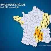 Orages : le Massif central en alerte orange