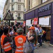 André : inquiets, des salariés manifestent