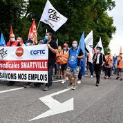 Manifestation à Sarreguemines pour le maintien des emplois à l'usine Smart