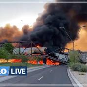 États-Unis : un pont prend feu et s'écroule après le déraillement d'un train