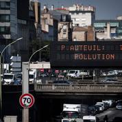 Pollution: circulation différenciée à partir de jeudi en Île-de-France