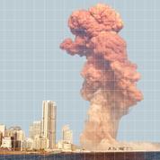 Beyrouth : trois infographies pour visualiser l'ampleur de la catastrophe