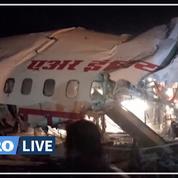 Un avion de ligne sort de la piste et se brise en deux en Inde, au moins 17 morts et 15 blessés graves