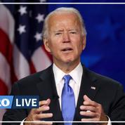 Joe Biden accepte l'investiture démocrate et appelle l'Amérique à sortir de l'obscurité