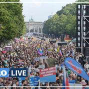 La police interrompt une manifestation «anticorona» à Berlin