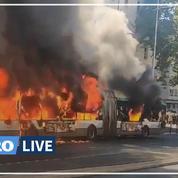 Nanterre : spectaculaire incendie d'un bus de la RATP
