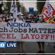 Nokia : des centaines de salariés mobilisés contre le plan de départ à Nozay, dans l'Essonne