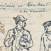 Un dessin rare de Verlaine et Rimbaud mis aux enchères
