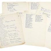 Les manuscrits de Georges Brassens adjugés cinq fois leur estimation chez Artcurial