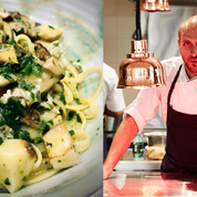 La recette des linguine, beurre persillé, huîtres et cèpes de Giovanni Passerini