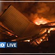 Incendie nocturne au Blanc-Mesnil: un entrepôt de 7.000 m² part en fumée