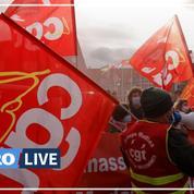 Rassemblement CGT devant le siège de Mulliez contre les «plans sociaux en cascade»