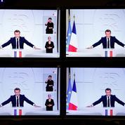 Près de 23 millions de Français devant Emmanuel Macron à la télévision