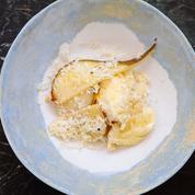 La recette de gratin de céleri-rave, poire et ricotta sèche d'Alexia Duchêne
