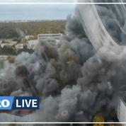 Le Havre : des pompiers toujours mobilisés autour de l'entrepôt incendié