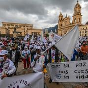 Colombie: d'ex-guérilleros des Farc marchent jusqu'à Bogotá contre la violence