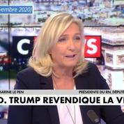 Pour Marine Le Pen, «la réélection de Donald Trump» serait «meilleure pour la France»