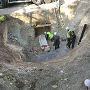 À Arras, un sarcophage du IVe siècle découvert sous un parking dans un état de conservation exceptionnel