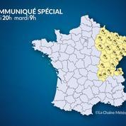 Météo : risque important de neige et de verglas sur le nord-est de la France